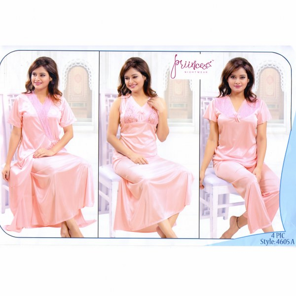 Fashionable Four Part Nighty-4605 A