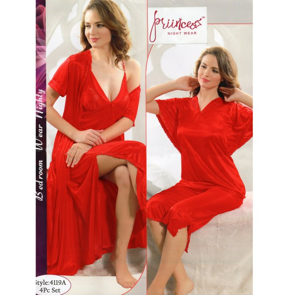 Fashionable Four Part Nighty-4119 A