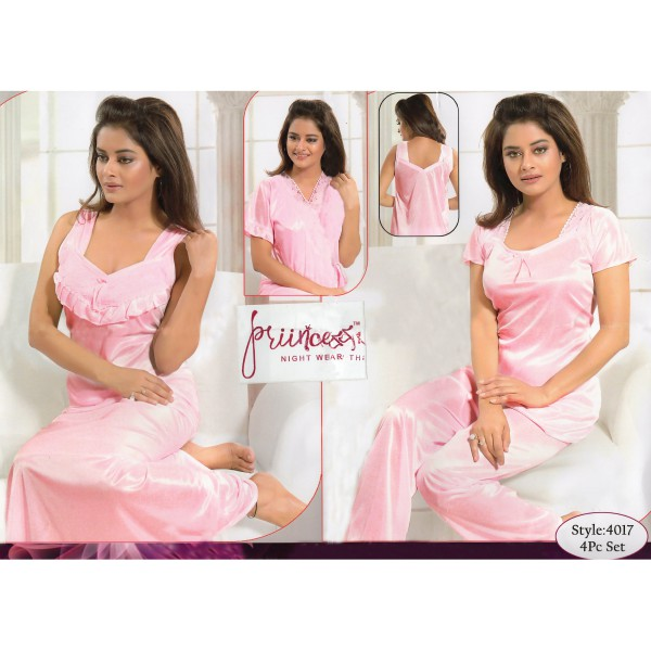 Fashionable Four Part Nighty-4017