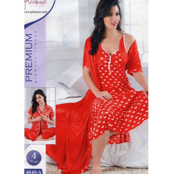 Fashionable Four Part Nighty-4640 A