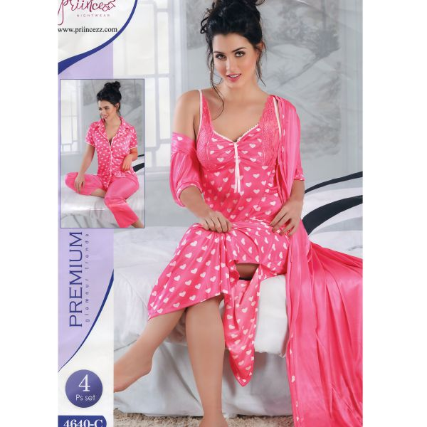 Fashionable Four Part Nighty-4640 C