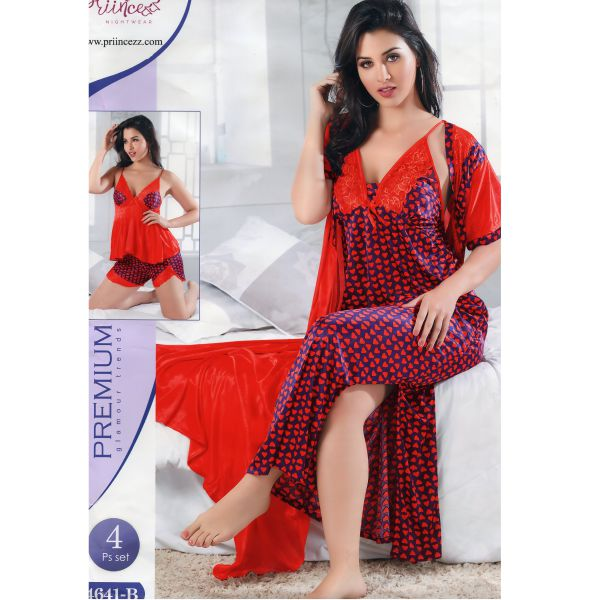 Fashionable Four Part Nighty-4641 B