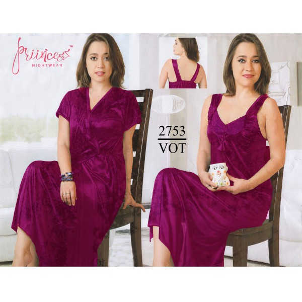 Fashionable Two Part Nighty-2753 VOT