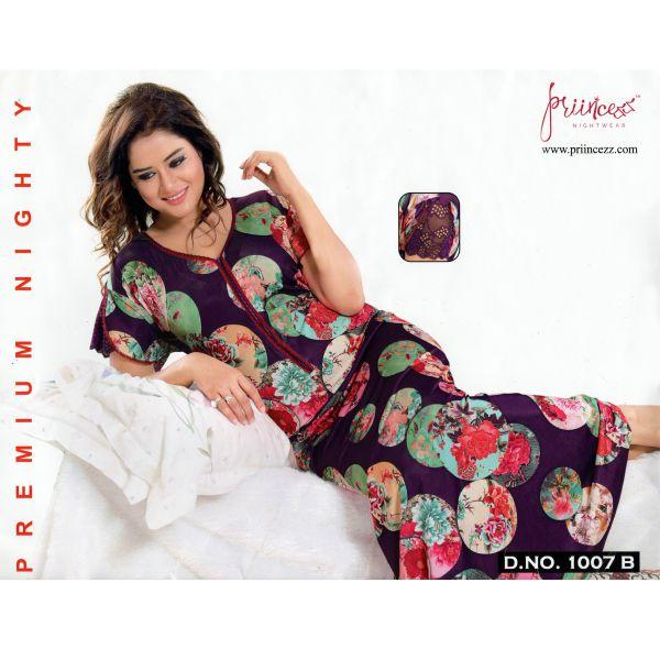 Fashionable One Part Night Dress-1007 B