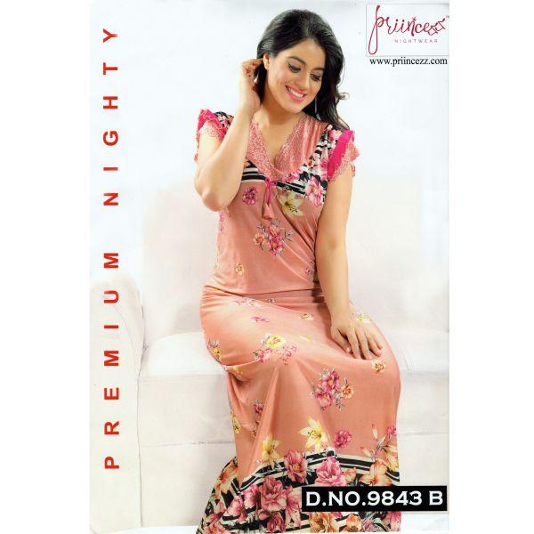 Fashionable One Part Night Dress-9843 B