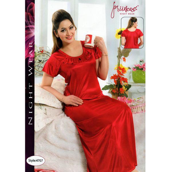 Fashionable One Part Night Dress-4707