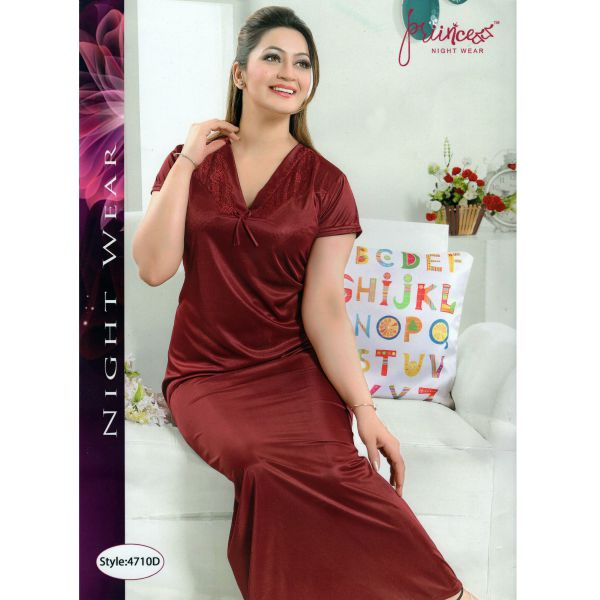 Fashionable One Part Night Dress-4710 D