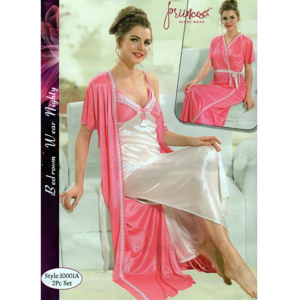 Fashionable Two Part Nighty-10001 A