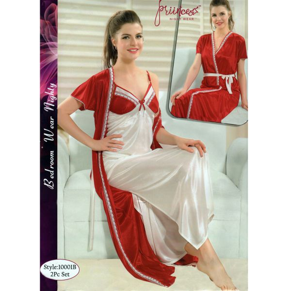 Fashionable Two Part Nighty-10001 B