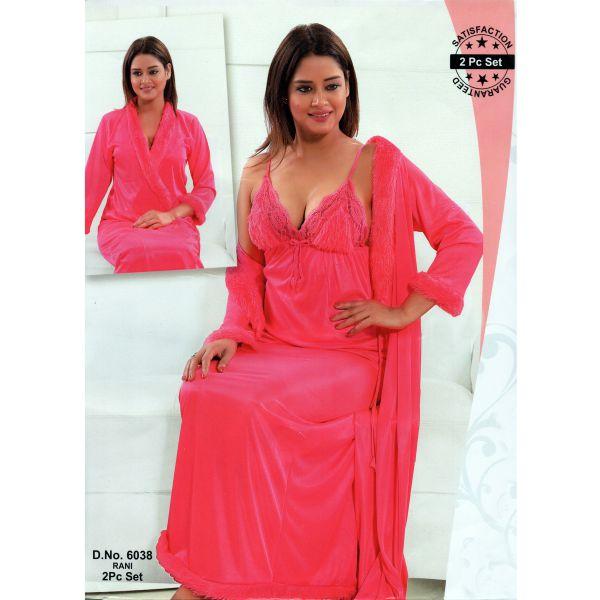 Fashionable Two Part Nighty-6038 Rani
