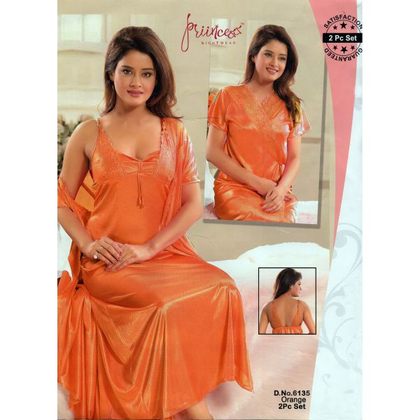 Two Part Nighty-6135 Orange