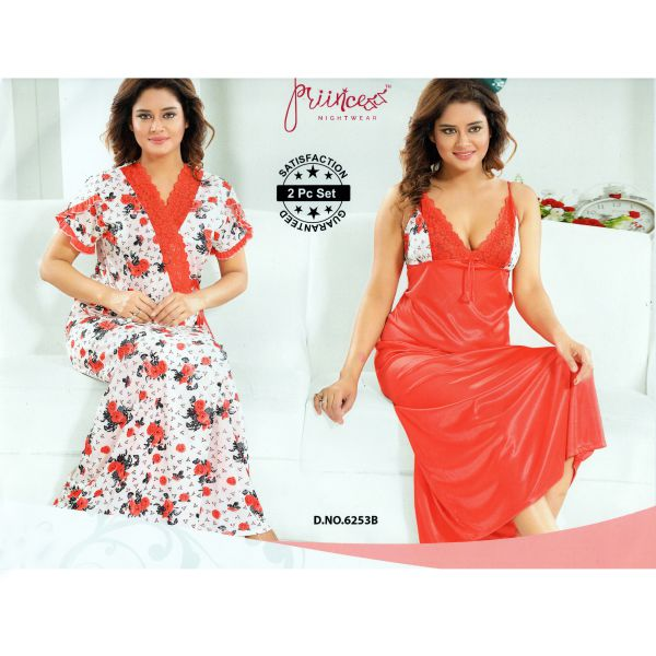 Fashionable Two Part Nighty-6253 B