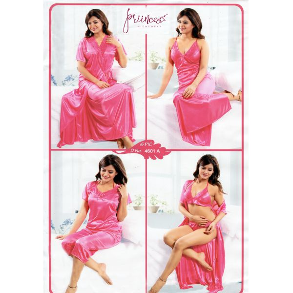 Fashionable Six Part Night Dress-4601 A