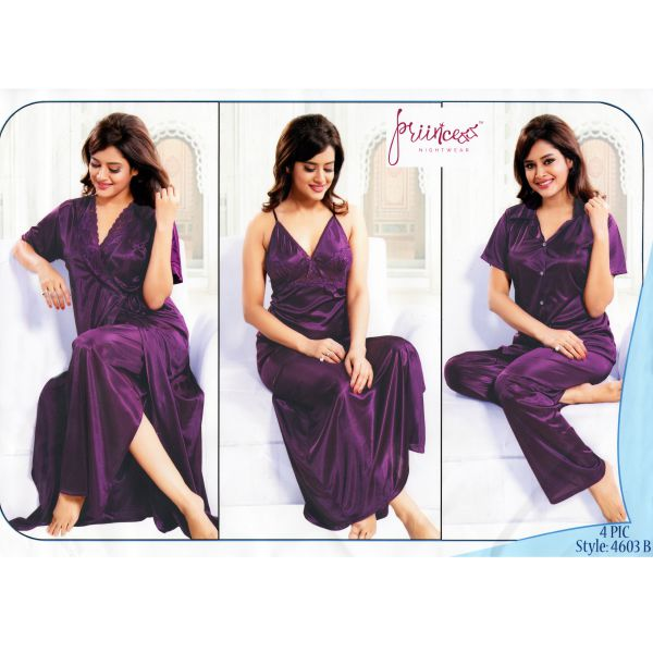 Fashionable Four Part Nighty-4603 B