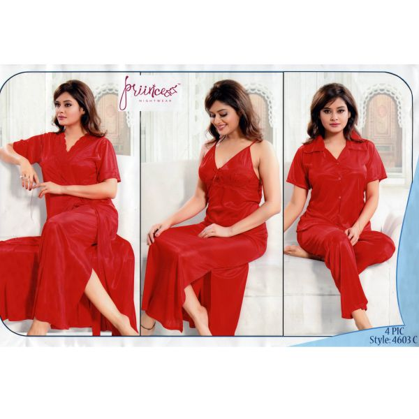 Fashionable Four Part Nighty-4603 C