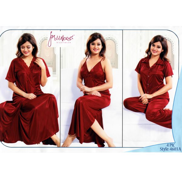 Fashionable Four Part Nighty-4603 A