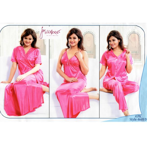 Fashionable Four Part Nighty-4603 D