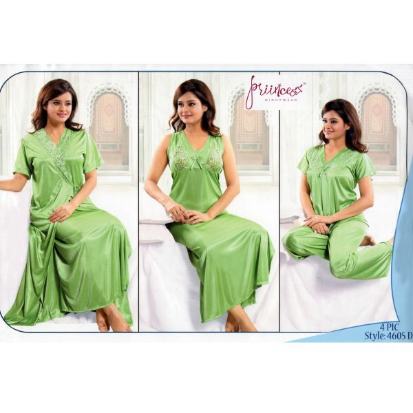 Fashionable Four Part Nighty-4605 D