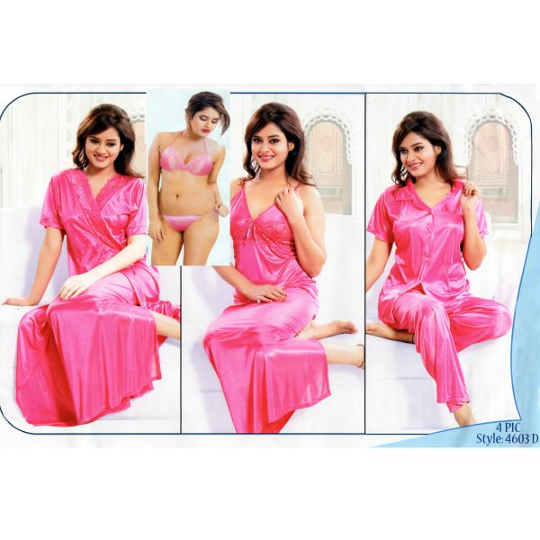 Fashionable Six Part Night Dress-4603D