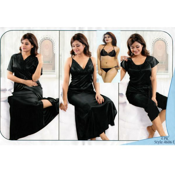 Fashionable Six Part Night Dress-4606E
