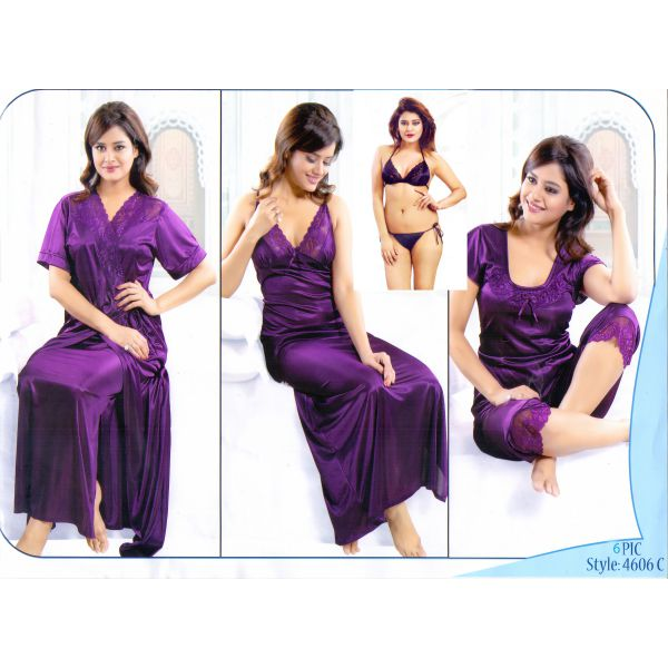 Fashionable Six Part Night Dress-4606C
