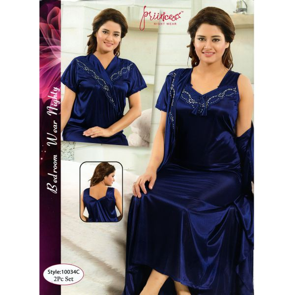 Fashionable Two Part Nighty-10034 C