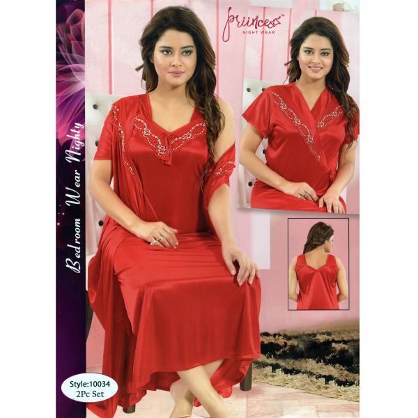Fashionable Two Part Nighty-10034