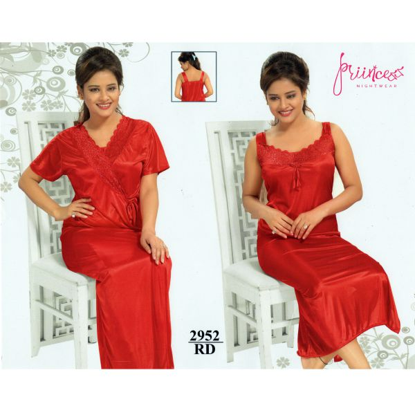 Fashionable Two Part Nighty-2952 RD