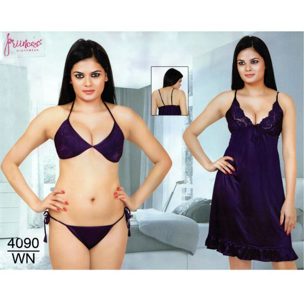 Fashionable Three Part Nighty-4090 WN