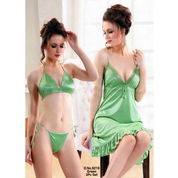 Three Part Nighty-6219 Green