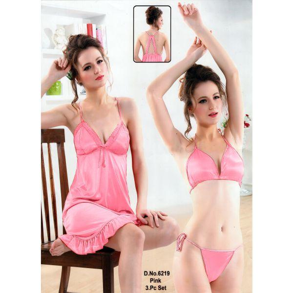 Three Part Nighty-6219 Pink