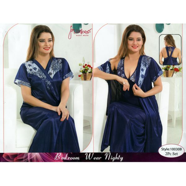 Fashionable Two Part Nighty-10030 B