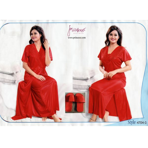 Fashionable Two Part Nighty-4704 D