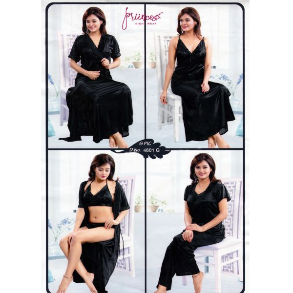 Fashionable Six Part Night Dress-4601 G