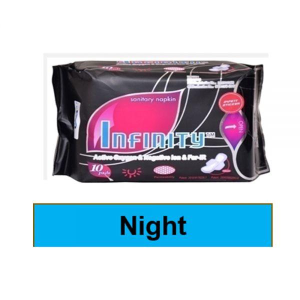Infinity Sanitary napkin (Night Pack-08 pads)