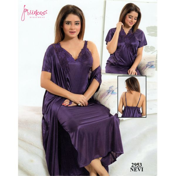 Fashionable Two Part Nighty-2953 NEVI