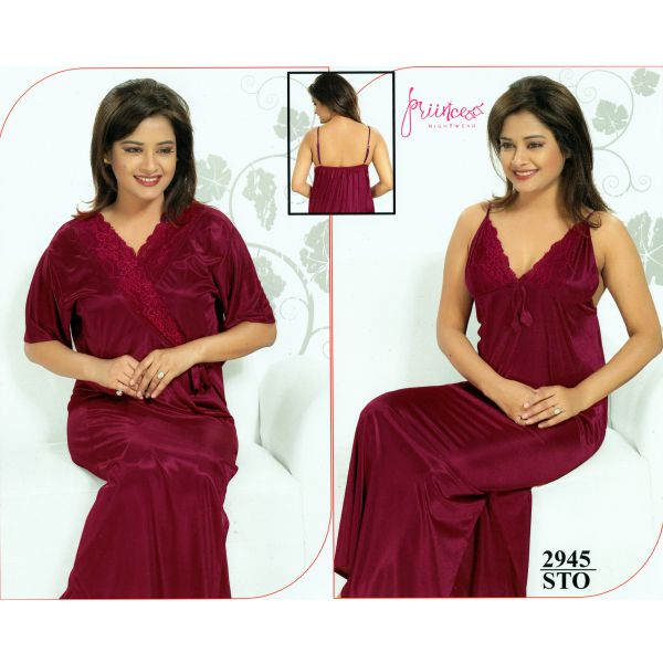 Fashionable Two Part Nighty-2945 STO