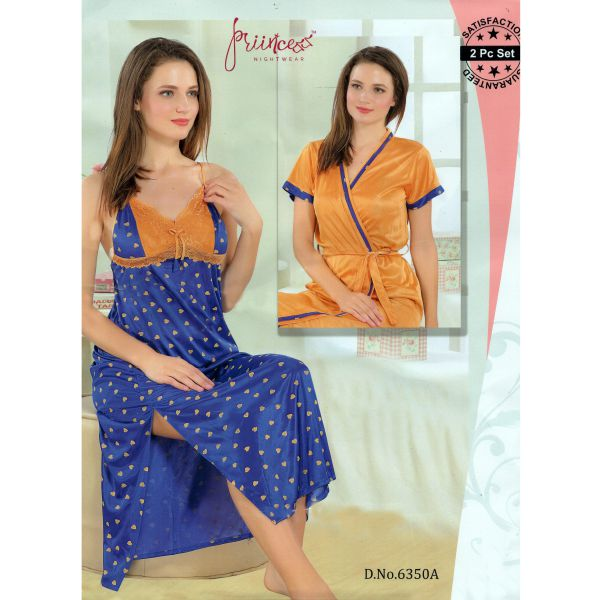 Fashionable Two Part Nighty-6350 A