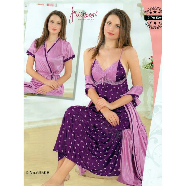 Fashionable Two Part Nighty-6350 B