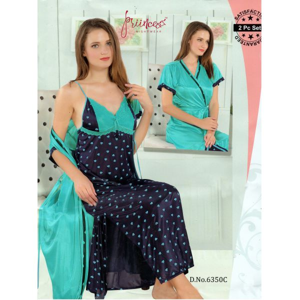 Fashionable Two Part Nighty-6350 C