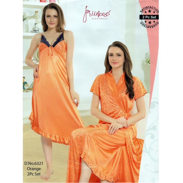Two Part Nighty-6321 Orange