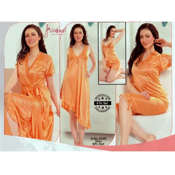 Fashionable Six Part Nighty-6309 Skin