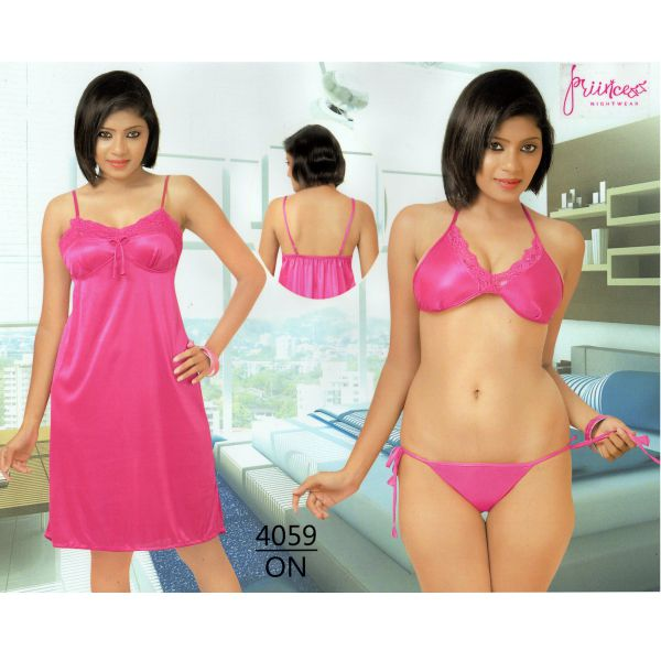 Fashionable Three Part Nighty-4059 ON
