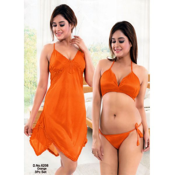 Three Part Nighty-6208 Orange