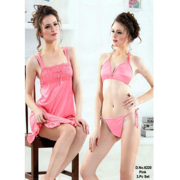 Three Part Nighty-6220 Pink