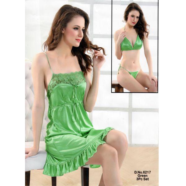 Three Part Nighty-6217 Green