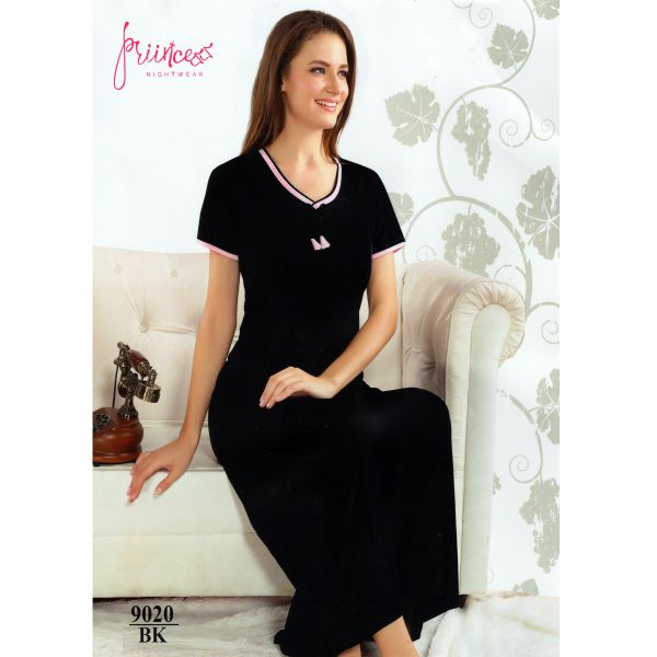 Fashionable One Part Nighty-9020 BK