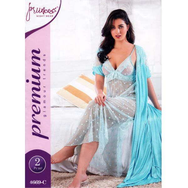 Fashionable Two Part Nighty-4669 C