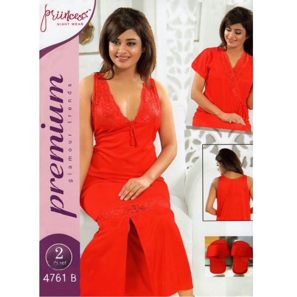 Fashionable Two Part Nighty-4761 B