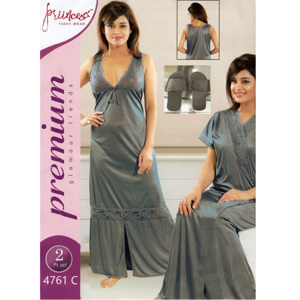 Fashionable Two Part Nighty-4761 C